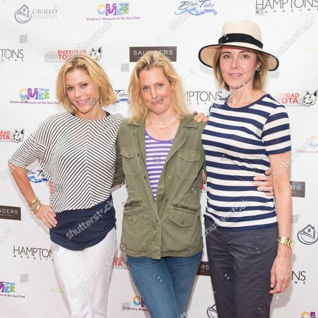 L-R) Julie Bowen, Ali Wentworth and Christa Miller attend The Children's Museum of the East End's 6th Annual Family Fair in Bridgehampton, in New York