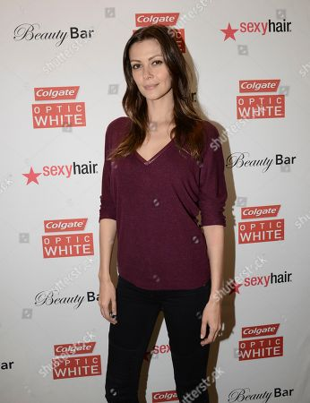 Actress Olga Fonda at the Colgate Optic White Beauty Bar - Golden Globes Weekend on in Los Angeles