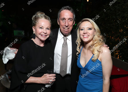 Genevieve Robert, Ivan Reitman, and Kate McKinnon are seen at the Los Angeles Premiere of Columbia Pictures' Ghostbusters at TCL Chinese Theatre, in Los Angeles