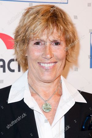 Diana Nyad arrives at the Cool Comedy: Hot Cuisine Gala Benefit at the Beverly Wilshire Hotel, in Beverly Hills, Calif