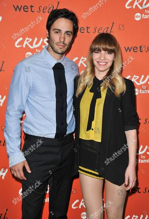 Richard Brancatisano, left, and Erin Marshall arrive at the launch party for Crush by ABC Family at The London Hotel on in West Hollywood, Calif
