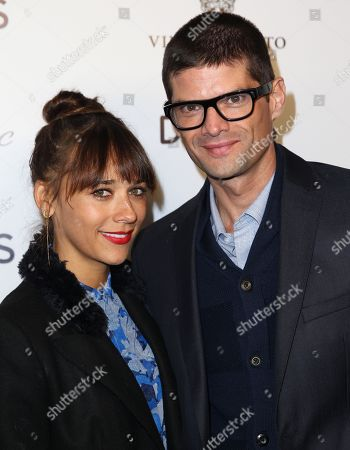 Rashida Jones, left, and Will McCormack arrive at the DETAILS Hollywood Mavericks Party hosted by Dan Peres at Soho House, in West Hollywood, Calif
