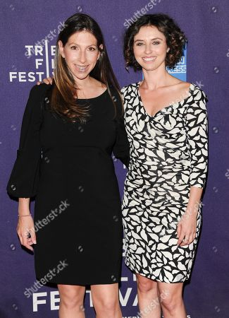 """Stock Picture of Director Hilda Medalia, left, and filmmaker Neta Zwebner-Zailbert attend the """"Dancing In Jaffa"""" premiere during the 2013 Tribeca Film Festival on in New York"""