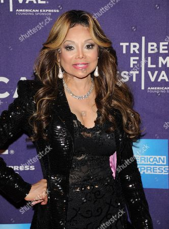 """Executive producer Latoya Jackson attends the """"Dancing In Jaffa"""" premiere during the 2013 Tribeca Film Festival on in New York"""
