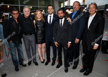 Writer Morgan Land, Producer Ehud Bleiberg, executive producer Laura Rister and director Ariel Vromen, Danny A. Abeckaser, President of Millennium Entertainment Steve Nickerson and Millennium Entertainment CEO Bill Lee attend the DeLeon Tequila special screening of The Iceman at the Arclight on in Los Angeles