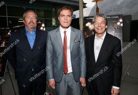 President of Millennium Entertainment Steve Nickerson, Michael Shannon and Millennium Entertainment CEO Bill Lee attend the DeLeon Tequila special screening of The Iceman at the Arclight on in Los Angeles
