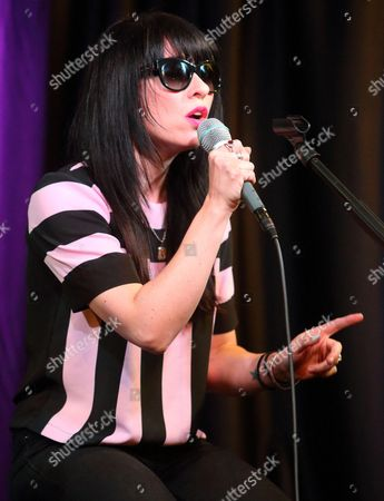 Stock Picture of Ellie Innocenti of the band Deluka visits the Radio 104.5 Performance Theater, in Philadelphia