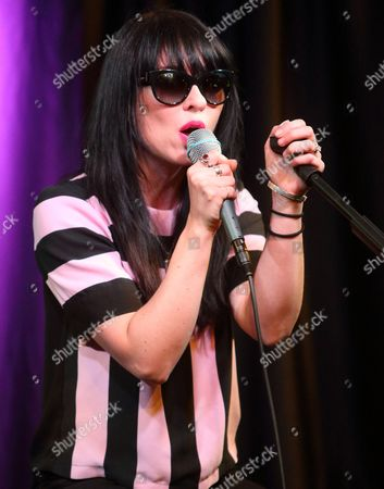 Stock Photo of Ellie Innocenti of the band Deluka visits the Radio 104.5 Performance Theater, in Philadelphia
