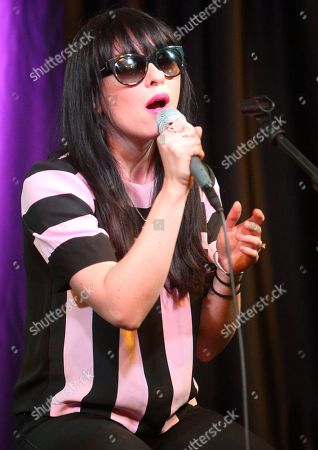 Stock Image of Ellie Innocenti of the band Deluka visits the Radio 104.5 Performance Theater, in Philadelphia