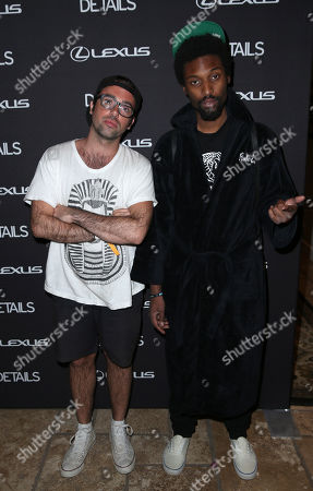 Stock Photo of Ben Ruttner, left, and James Patterson of The Knocks arrive at DETAILS @ Midnight, on in Bermuda Dunes, Calif