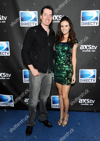 NASCAR driver Kyle Busch and Samantha Sarcinella arrives at DirecTV's Super Saturday Night party on in New Orleans