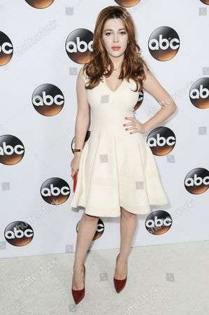 Elena Satine arrives at the Disney/ABC Television Group 2015 Winter TCA Party, in Pasadena, Calif
