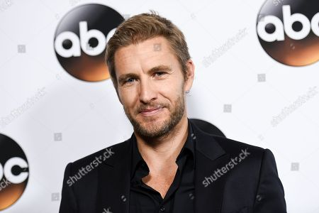 Brett Tucker arrives at the Disney/ABC Television Group 2015 Winter TCA Party, in Pasadena, Calif