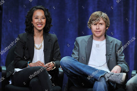 Producers Maurissa Tancharoen and Jed Whedon attend the Disney/ABC Television Group's 2013 Summer TCA panel at the Beverly Hilton Hotel on in Beverly Hills, Calif