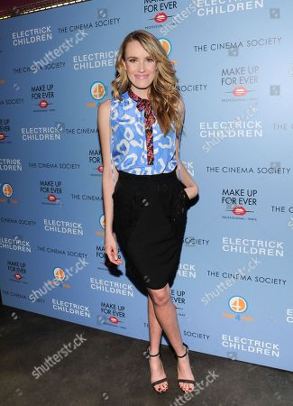 """Actress Cassidy Gard attends a special screening of """"Electrick Children"""" hosted by the Cinema Society and Make Up For Ever at the IFC Center on in New York"""