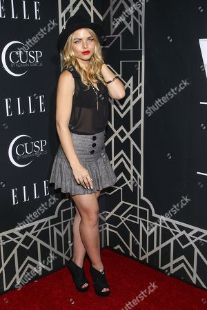 Stock Image of Actress Kiersten Hall attends the 5th Annual ELLE Women in Music Celebration at theAvalon on in Hollywood, California