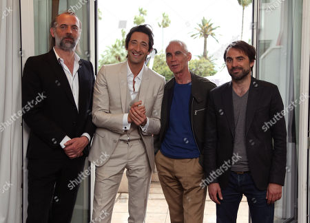 Sam Louwyck, Adrien Brody, director Lee Tamahori and actor Michael Pas pose for a portrait for the film Emperor at the Majestic Hotel for the 67th international film festival, Cannes, southern France