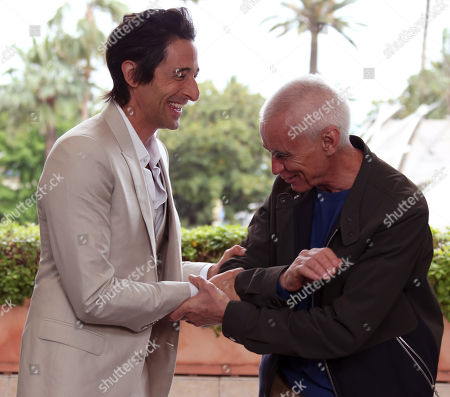 Actor Adrien Brody and director Lee Tamahori pose for a portrait for the film Emperor at the Majestic Hotel for the 67th international film festival, Cannes, southern France