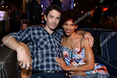 James Frain, left, and Marta Cunningham attend Entertainment Weekly's Annual Comic-Con Closing Night Celebration at the Hard Rock Hotel, in San Diego