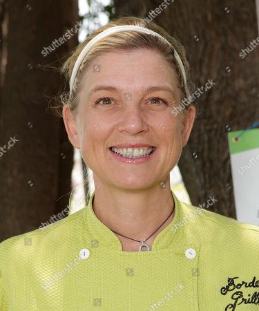 Border Grill Owner/Chef Mary Sue Milliken attends the Environmental Media Association School Garden Program Luncheon at Carson Senior High School on in Los Angeles