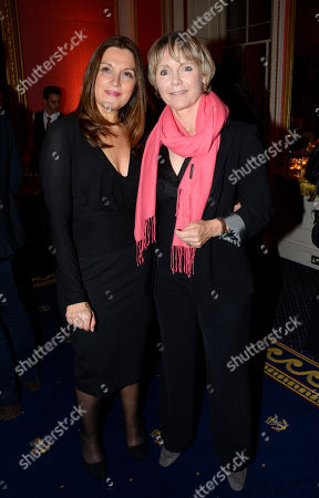 Barbara Broccoli, Lucy Fleming poses at Everything or Nothing - The Untold Story of 007 After Party at Odeon West End on in London