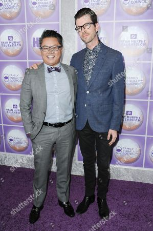 Alec Mapa, Jamison Hebert arrives at the Family Equality Council Los Angeles Awards Dinner held at the Beverly Hilton, in Beverly Hills, Calif