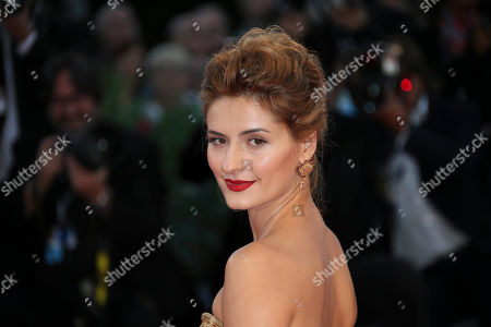 Actress Lidiya Liberman poses for photographers on the red carpet for the film Sangue Del Mio Sangue (Blood of my blood), at the 72nd edition of the Venice Film Festival in Venice, Italy, . The 72nd edition of the festival runs until Sept. 12