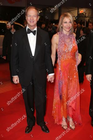 United States Ambassador to Germany John B. Emerson and his wife Kimberly Marteau Emerson arrive on the red carpet for the screening of the film The Grand Budapest Hotel and opening night of the 64th Berlinale International Film Festival, in Berlin