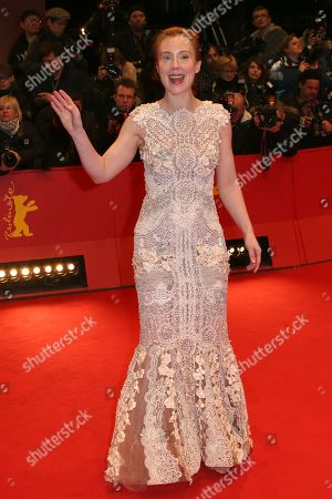 German actress Franziska Petri arrives on the red carpet for the screening of the film The Grand Budapest Hotel and opening night of the 64th Berlinale International Film Festival, in Berlin