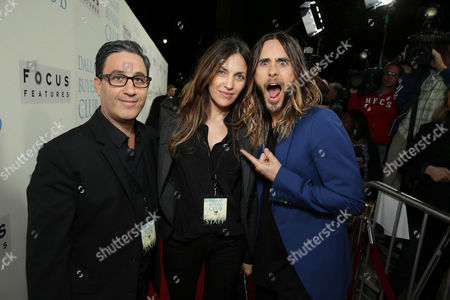 Jason Weinberg, Robin Baum and Jared Leto seen at Focus Features' Dallas Buyers Club Premiere, on Thursday, Oct., 17, 2013 in Los Angeles
