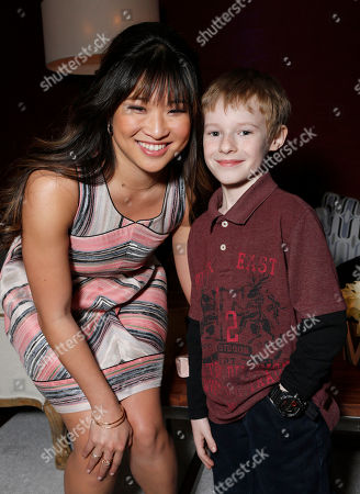 Jenna Ushkowitz and Kyle Catlett attend the Fox Winter TCA All Star Party at the Langham Huntington Hotel, in Pasadena, Calif