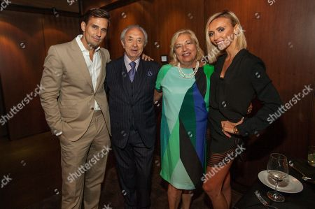 Stock Photo of In this image distributed, Bill Rancic, Eduardo DePandi, Anna DePandi and Giuliana Rancic seen at Giuliana Rancic 40th birthday surprise at the new RPM Steak Preview Party on Saturday, August 9, 2014 in Chicago