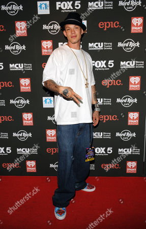 Stock Image of Chris Rene arrives at Hard Rock Rocks Times Square, on in New York