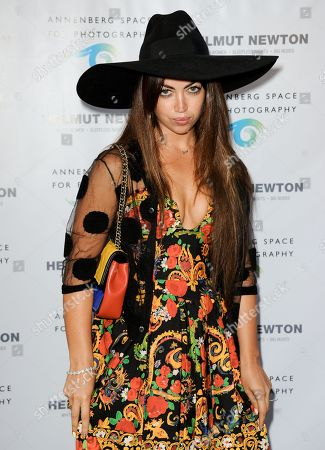 Aura Dione arrives at Helmut Newton: White Women - Sleepless Nights - Big Nudes exhibit opening at the Annenberg Space Photography on in Los Angeles