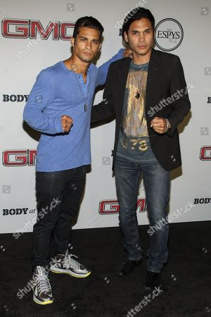 Stock Photo of Actor Hector David (L) and Steven Skyler at the Body at ESPYS Party sponsored by Hennessy V.S on at Lure in Los Angeles, CA