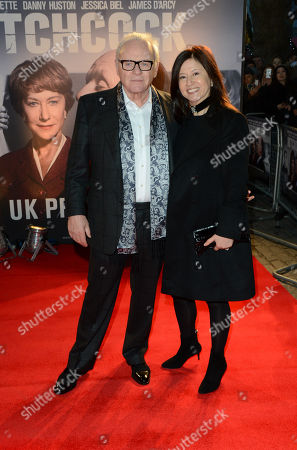 """Sir Anthony Hopkins and Stella Arroyave pose at the """"Hitchcock"""" UK Premiere - Inside Arrivals at The BFI Southbank on in London"""