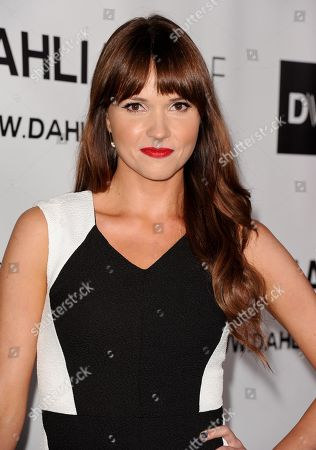 Valerie Azlynn arrives at the Hollywood debut of Dahlia Wolf, Fashion Made By You at the Graffiti Cafe on in Los Angeles