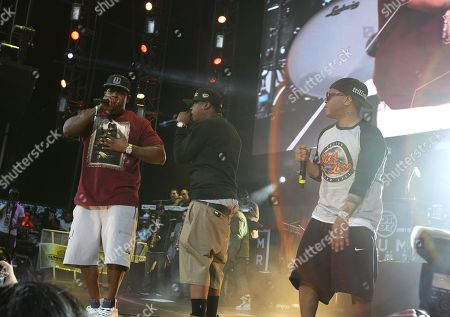 Rappers Sheek Louch, Jadakiss and Styles P of the group The Lox are seen performing during Hot 97's Summer Jam at MetLife Stadium on in East Rutherford, New Jersey