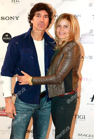 """L-r) Bobby Williams and Mariel Hemingway from the film """"Running from Crazy"""" arrives with in a Rolls Royce at Resorts West House of Luxury, on Monday, Jan 21. 2013 in Park City, Utah"""