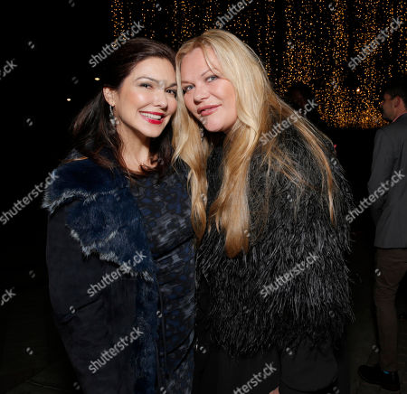 Laura Harring and Katharina Otto Bernstein attend the International Documentary Associationâ?™s 2014 IDA Documentary Awards at Paramount Studios on in Los Angeles