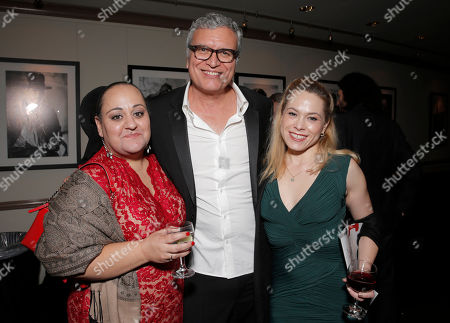 Stock Picture of IDA President Marjan Safinia, Marjan Safinia and Greg Stikeleather, Christina Loughry attend the International Documentary Associationâ?™s 2014 IDA Documentary Awards at Paramount Studios on in Los Angeles