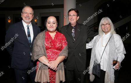 IDA Executive Director Michael Lumpkin, IDA President Marjan Safinia, Thomas Miller and Nancy Dickenson attend the International Documentary Association's 2014 IDA Documentary Awards at Paramount Studios on in Los Angeles