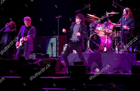 Magic Dick, Duke Levine, Peter Wolf and Tom Arey of the J. Geils Band performs in concert as the band opens for Bob Seger at the Arena at Gwinnett Center, in Duluth, Ga