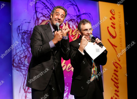 Brad Garrett and Jeff Randall attends the JDRF LA's 10th Annual Finding A Cure: The Love Story Gala at the Hyatt Regency Century Plaza on in Century City, California