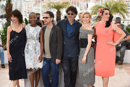 From left, Sophie Marceau, Rokia Traore, Ethan Coen, Joel Coen, Sienna Miller and Rossy de Palma pose for photographers during a photo call for the Jury, at the 68th international film festival, Cannes, southern France