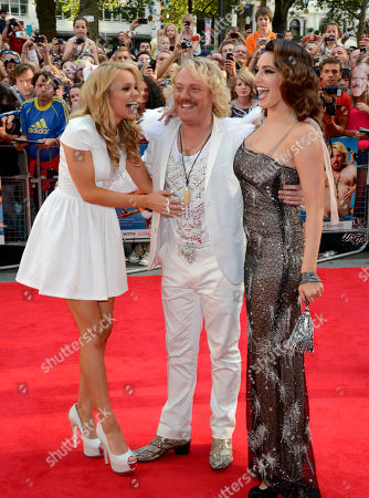 Rosie Parker, Leigh Francis aka Keith Lemon and Kelly Brook poses at the Keith Lemon: The film UK Premiere at the Odeon West End on in London