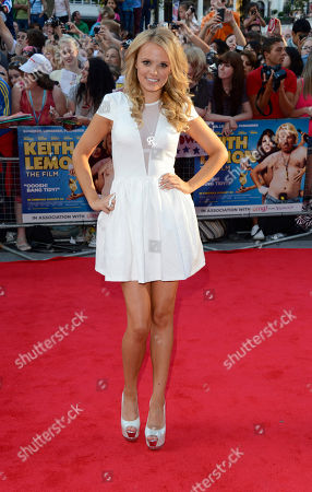 Rosie Parker poses at the Keith Lemon: The film UK Premiere at the Odeon West End on in London