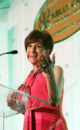 Honoree, Myra Biblowit addresses dinner guests at the Kelly Cares Foundation's 5th Annual Irish Eyes Gala at the JW Marriot Essex House, on in New York. Established in 2008 by Notre Dame head football coach Brian Kelly and his wife Paqui, the Kelly Cares Foundation has donated over $2 million to support causes locally, nationally and globally