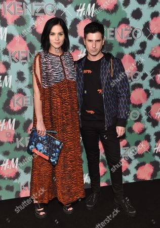 Leigh Lezark and Geordon Nicol attend the Kenzo x H&M Runway Show at Pier 36, in New York