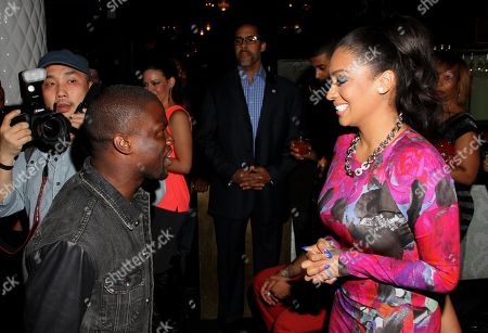 Stock Image of Kevin Hart and Alani Vazquez Anthony at Kevin Hart's 1st Annual New Year's Eve 3 Day Block Party Celebrity Kick Off on Saturday, December, 29, 2012, at the Conga Room in Los Angeles, California